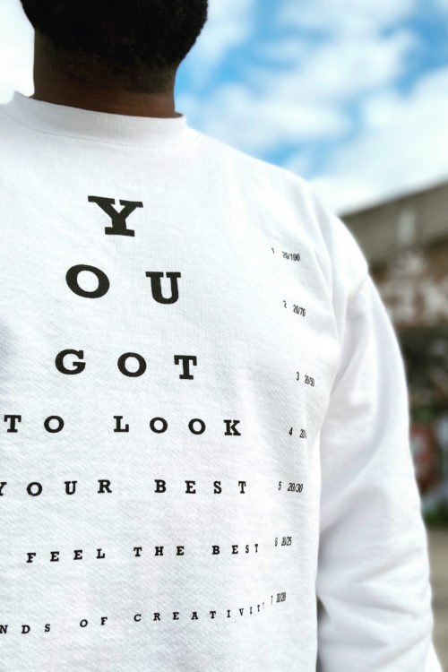 LOC You got to look your best eye chart close up