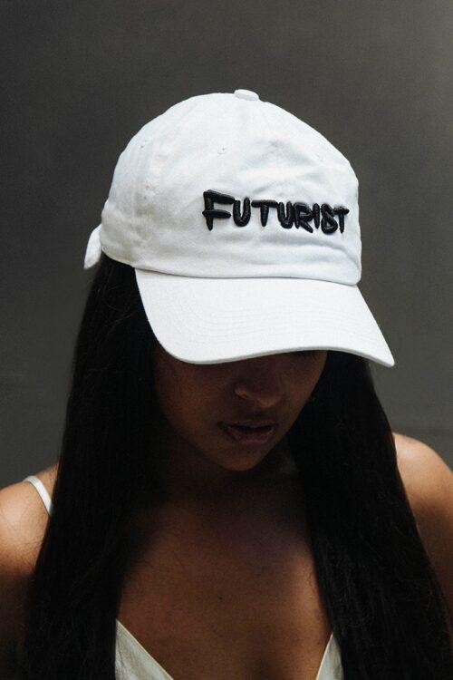 futurist dad hat white